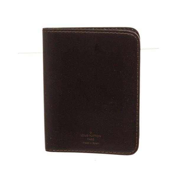 Louis Vuitton Black Leather Bifold ID Wallet