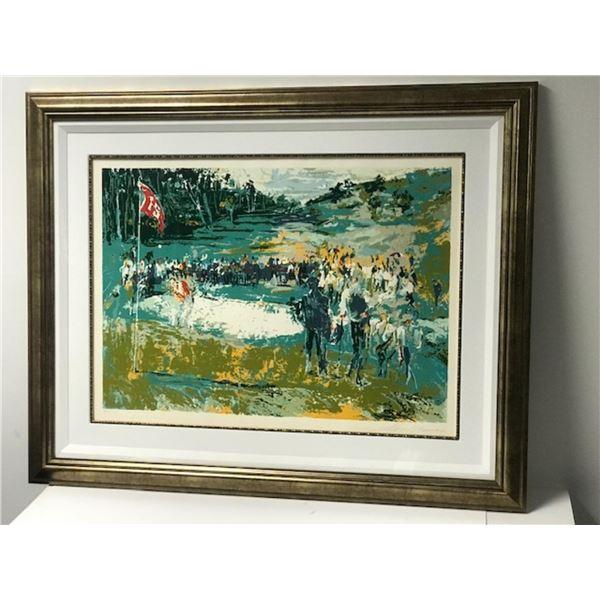 Golf 15th Hole by LeRoy Neiman (1921-2012)
