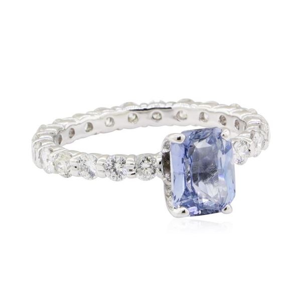 2.84 ctw Sapphire and Diamond Ring - 14KT White Gold