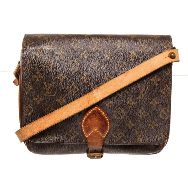Louis Vuitton Brown Cartouchiere GM Crossbody Bag