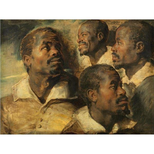 Sir Peter Paul Rubens - Four Studies of a Head of a Moor