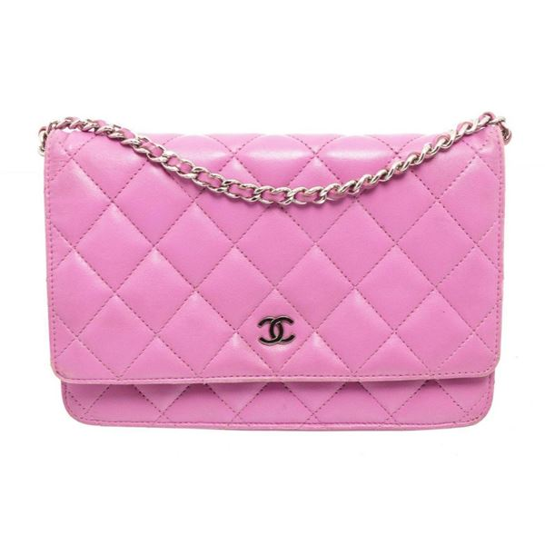 Chanel Pink Leather WOC Crossbody Bag