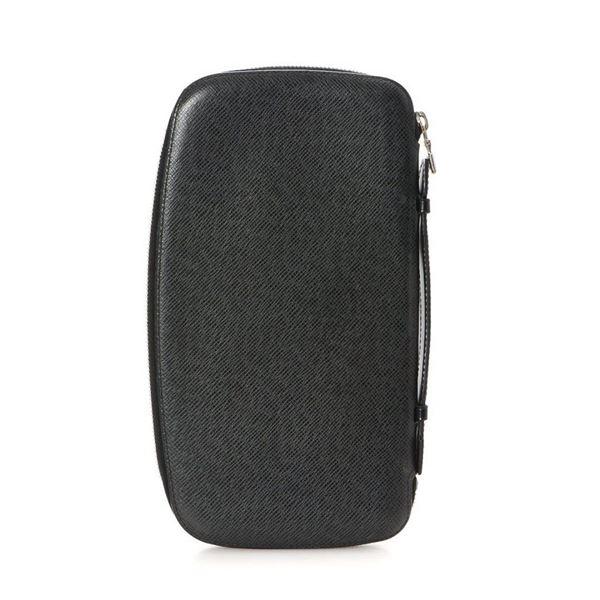 Louis Vuitton Black Taiga Atoll Wallet