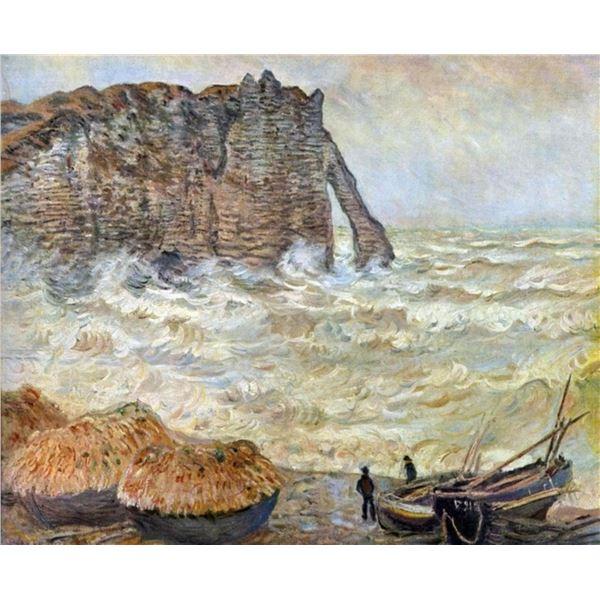 Claude Monet - Stormy Sea (La Porte d'Aval)