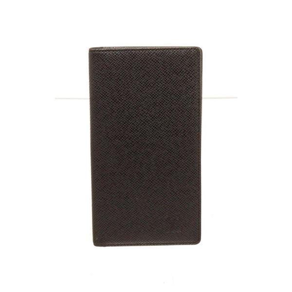 Louis Vuitton Black Leather Long Card Wallet
