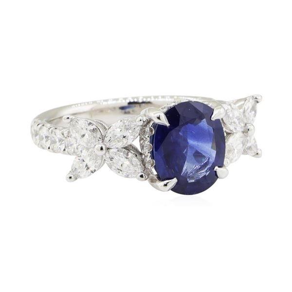 2.55 ctw Sapphire and Diamond Ring - Platinum