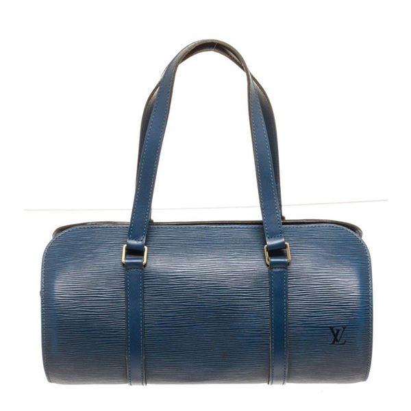 Louis Vuitton Blue Epi Leather Soufflot Shoulder Bag