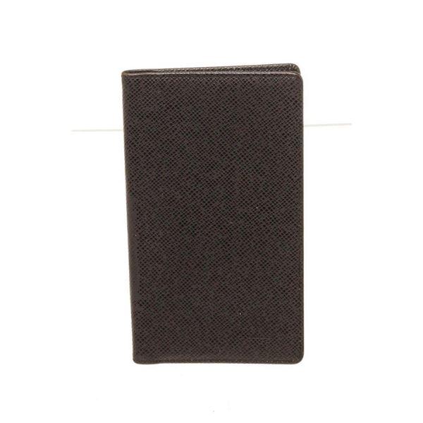 Louis Vuitton Black Leather Checkbook Wallet