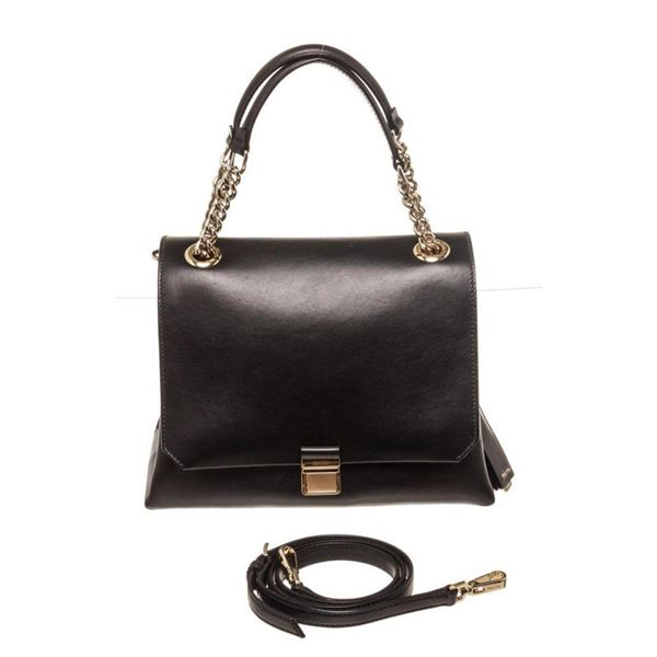 Miu Miu Black Leather Chain Handbag