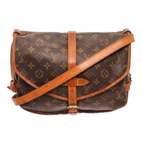 Louis Vuitton Brown Saumur 25cm Crossbody Bag