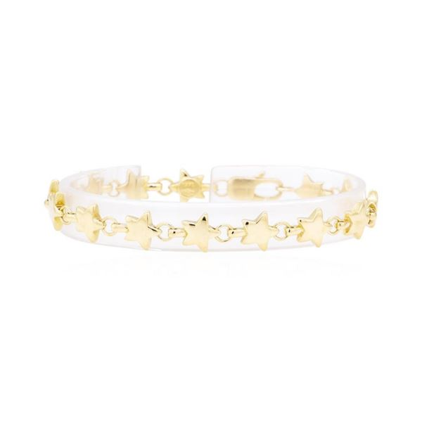 Tiffany and Company Star Link Bracelet - 18KT Yellow Gold