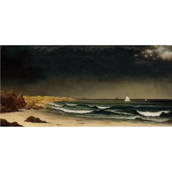 Martin Johnson Heade - Approaching Storm on Beach Near Newport