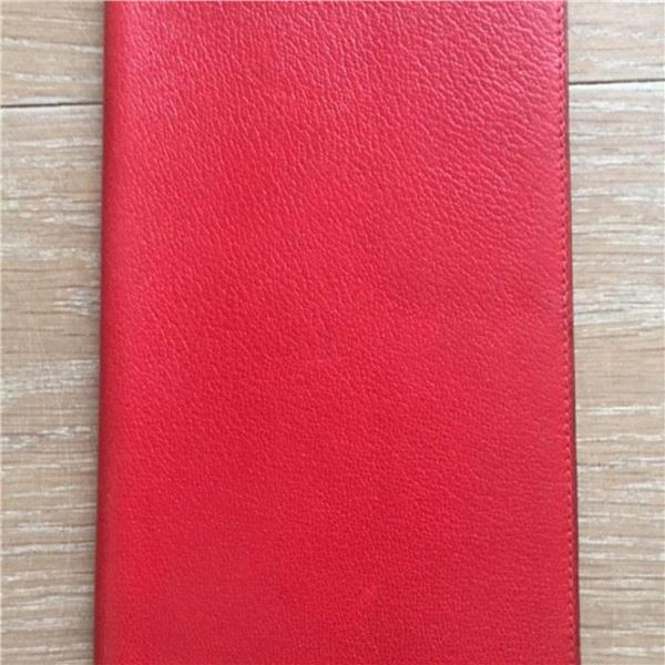 Hermes Red Leather Agenda Cover Wallet