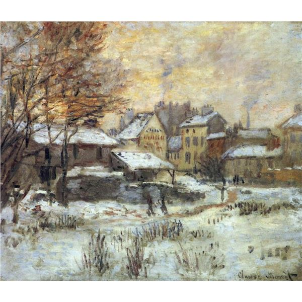 Claude Monet - Snow at Sunset, Argenteuil in the Snow