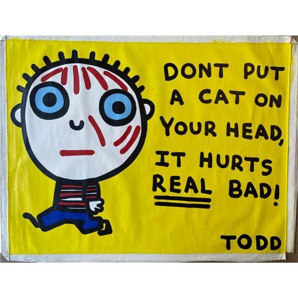 """Todd Goldman """"Cat on Head"""""""