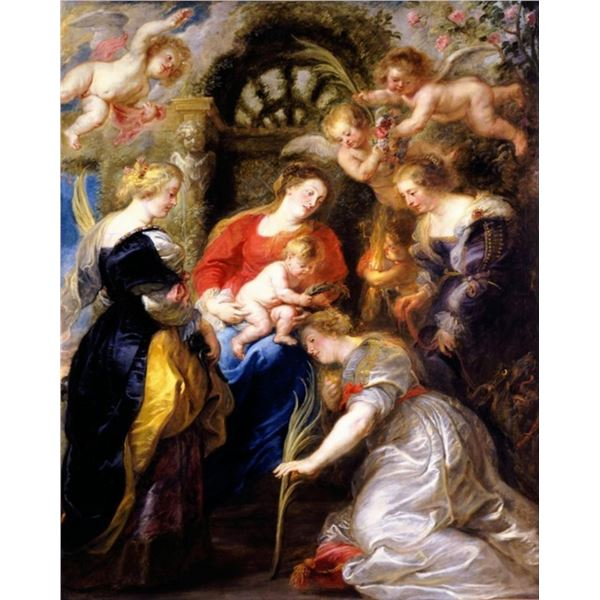 Sir Peter Paul Rubens - Crowning of Saint Catherine