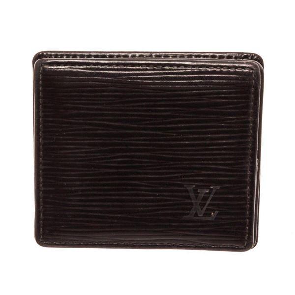 Louis Vuitton Black Epi Boite Coin Wallet
