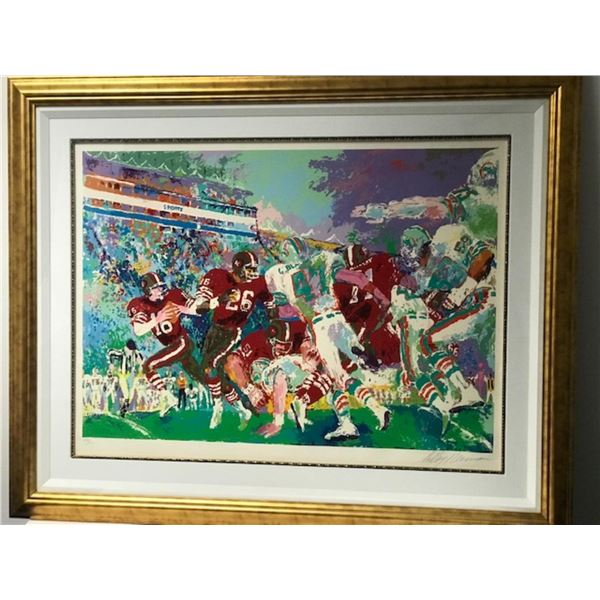 """Post Season Football Classic"" by LeRoy Neiman (1921-2012)"