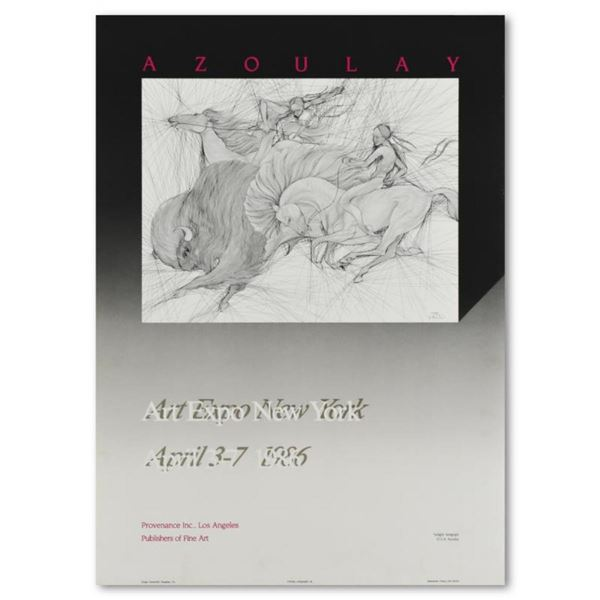 1986 Art Expo NY Exhibition Poster by Azoulay, Guillaume