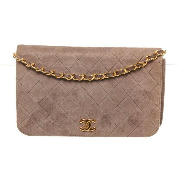 Chanel Brown Leather Full Flap Shoulder Bag