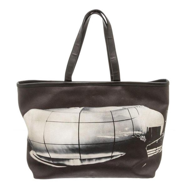 Chanel Black Canvas Karl Lagerfeld Le Mobile Art Tote Bag