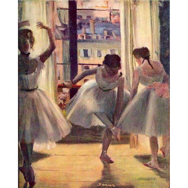 Edgar Degas - Three Dancers In A Practice Room