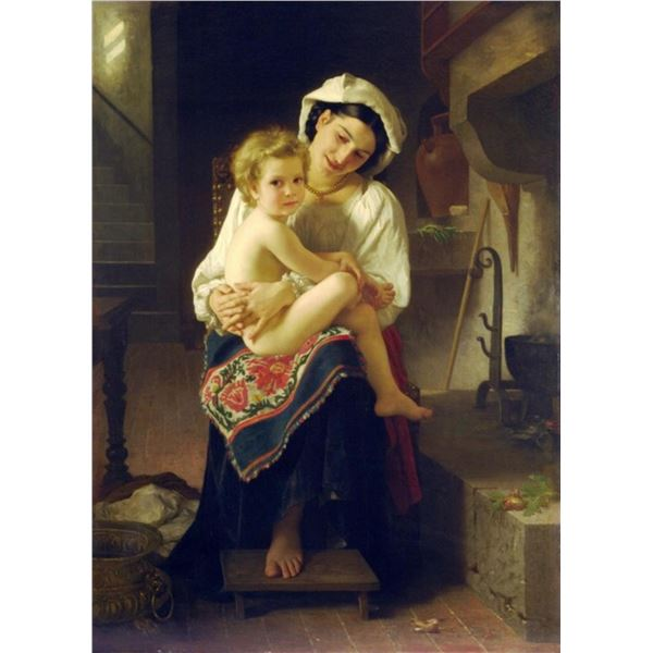 William Bouguereau - Young Mother Gazing at her Child