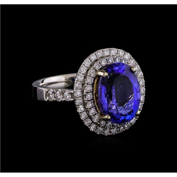 14KT Two-Tone 2.01 ctw Tanzanite and Diamond Ring