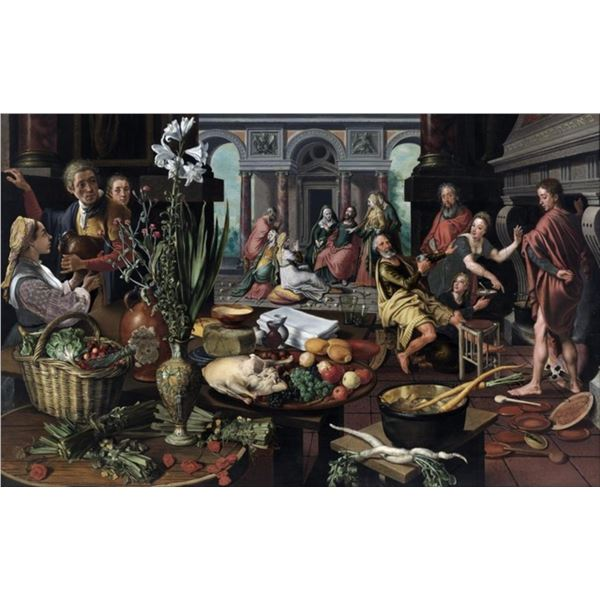 Pieter Aertsen - Christ in the House of Martha and Mary