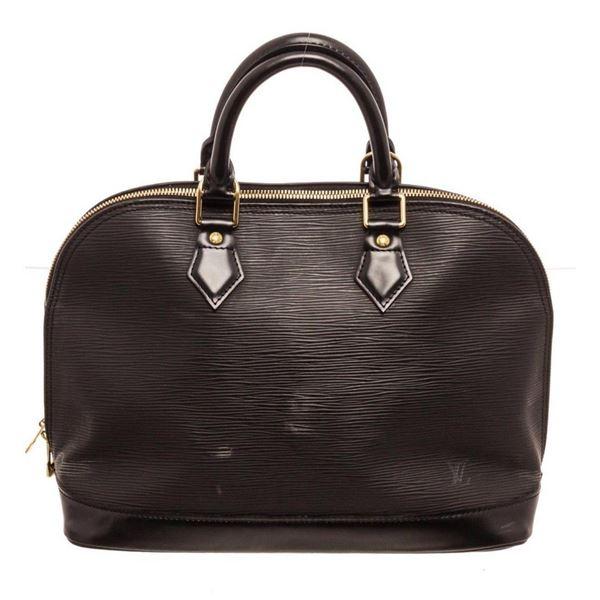 Louis Vuitton Black Alma PM Satchel