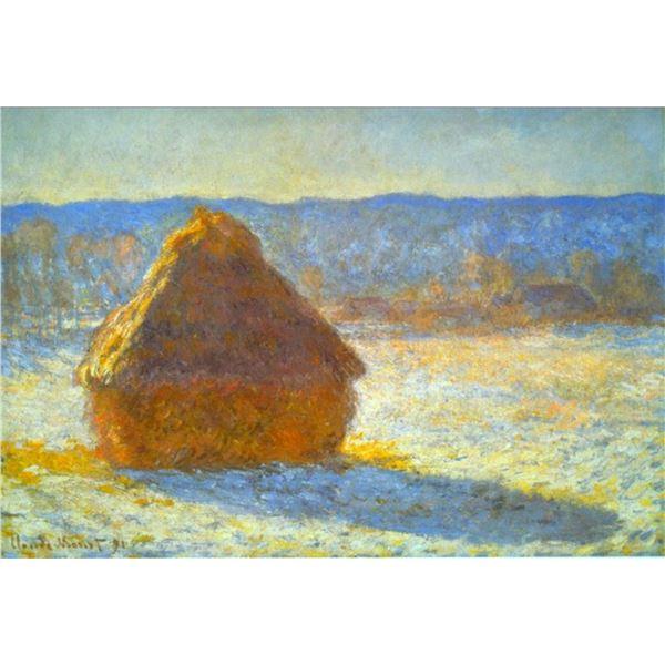 Claude Monet - Haystacks in Snow