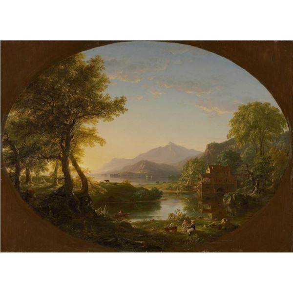 Thomas Cole - The Mill at Sunset