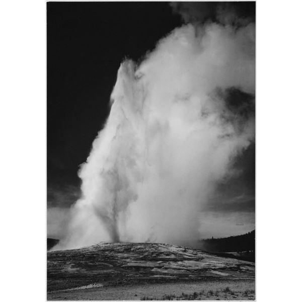 Adams - Old Faithful Geyser Erupting in Yellowstone National Park