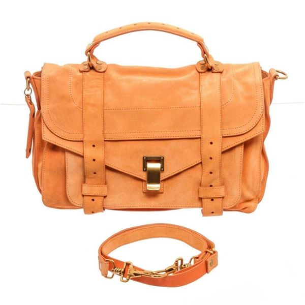 Proenza Orange Leather Suede Shoulder Bag