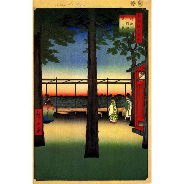 Hiroshige Dawn at Kanda Myojin Shrine
