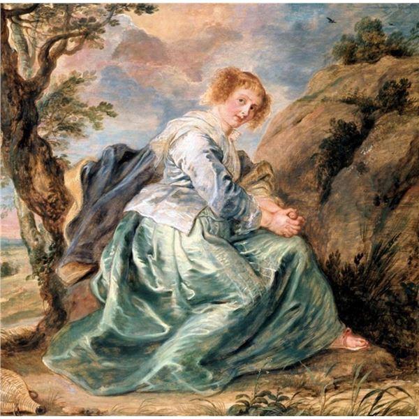 Sir Peter Paul Rubens - Hagar in the Desert