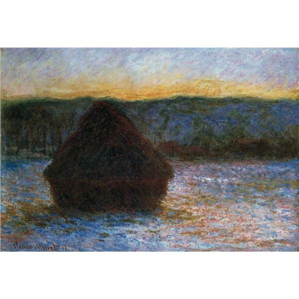 Claude Monet - Haylofts Thaw, Sunset