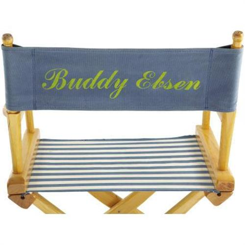 Astonishing Buddy Ebsens Blue And White Directors Chair Theyellowbook Wood Chair Design Ideas Theyellowbookinfo