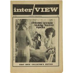 First Issue of Interview Magazine, 1969