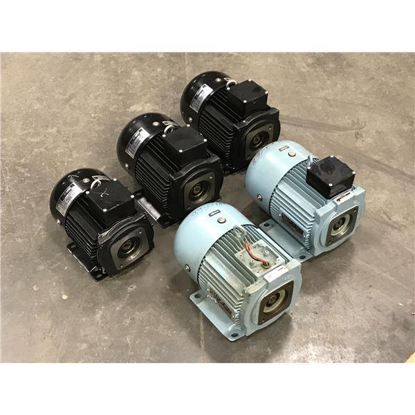 Lot of (5) Nachi Motor