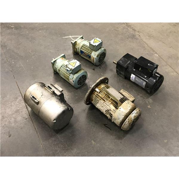 Lot of (5) Misc. Motors