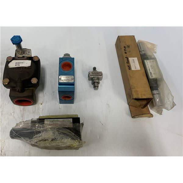 Lot of (5) NEW Valves (See Pics for Part Numbers)