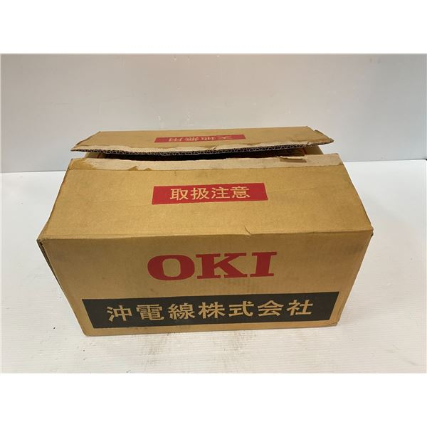 Lot of  (4) OKI Electrical Cable #OB-25P EDM Wire 0.25mm NET 5kg