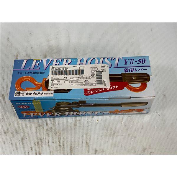 Elephant Lifting YII-50 Ratchet Mini Lever Hoist (NEW IN BOX)