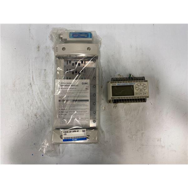 Lot Of (2) SMC Items W/ # VV8018-03F-SNBN-W1-X15 and CEU5PB-D