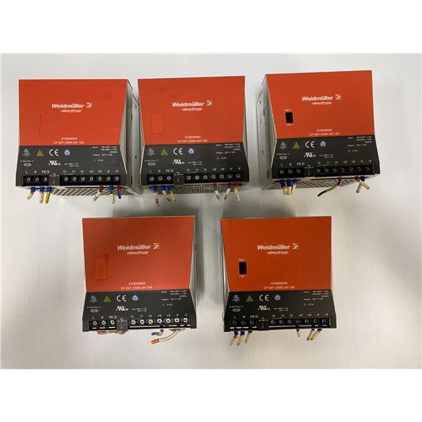 (5) Weidmuller 8708680000 Power Supplies