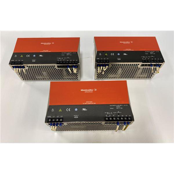 (3) Weidmuller 8708710000 Power Supplies