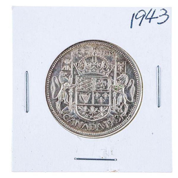 1943 Canada Silver 50 Cents