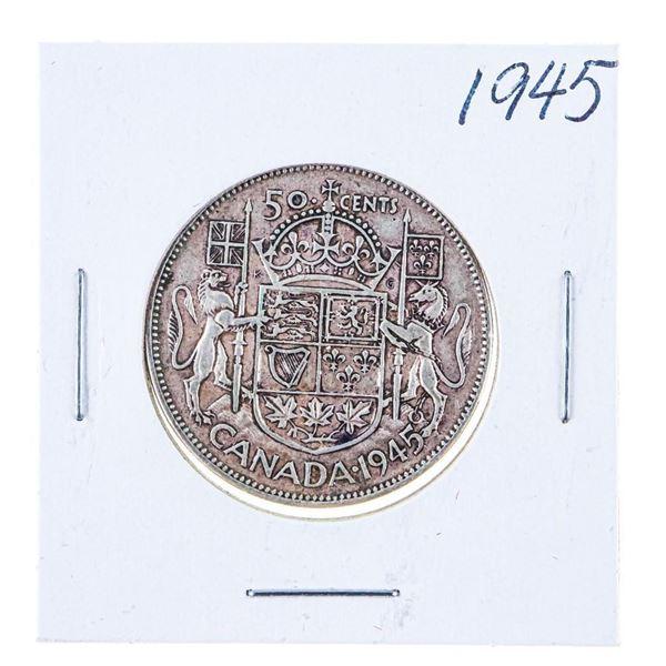 1945 Canada Silver 50 Cents