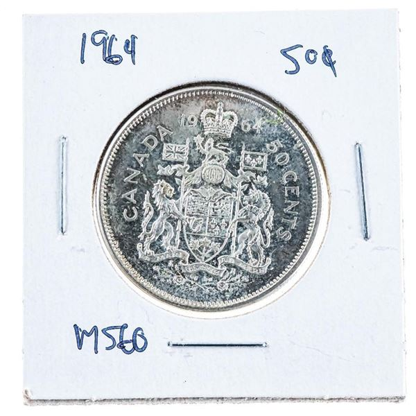 1964 Canada Silver 50 Cents